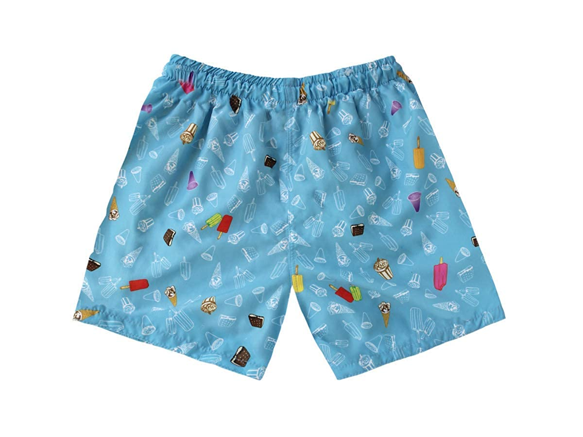 Subibaja Swimsuit Ice Cream Printed Trunk Swim Shorts for Baby Boys Toddlers