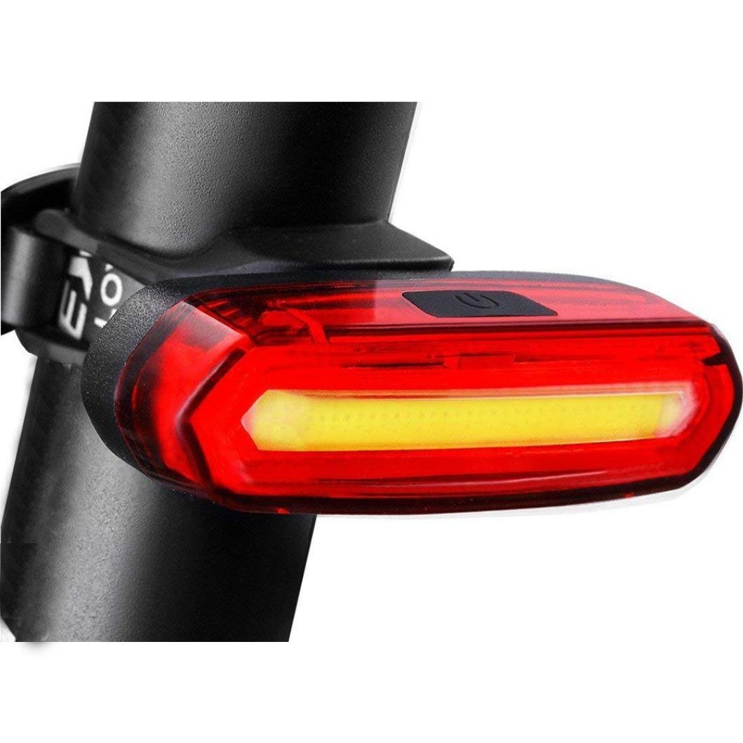 Quaanti 2018 USB Rechargeable Bicycle 6 Modes Light Tail Flash LED Lamp Warning Light Bike Light bisiklet aksesuar Luces Bicicleta (Red)