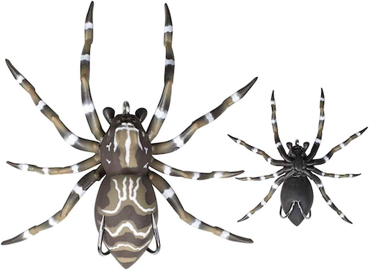 2 L/änge Unkrautloser Angelk/öder mit realistischem Design wiegt 28 g Lunkerhunt Phantom Spider