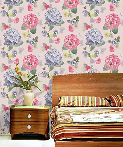 ARTHOUSE OPERA ANNABELLE CITRUS PINK FLORAL FLOWER HEAVYWEIGHT WALLPAPER 661901