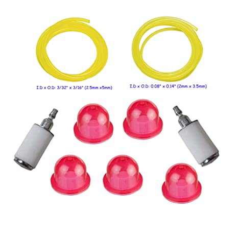 ouyfilters fuel line with 530095646 fuel filter and 530058709 primer bulb for poulan cratman weed eater string trimmer edger blower funny weed whacker weed wacker fuel filter #11