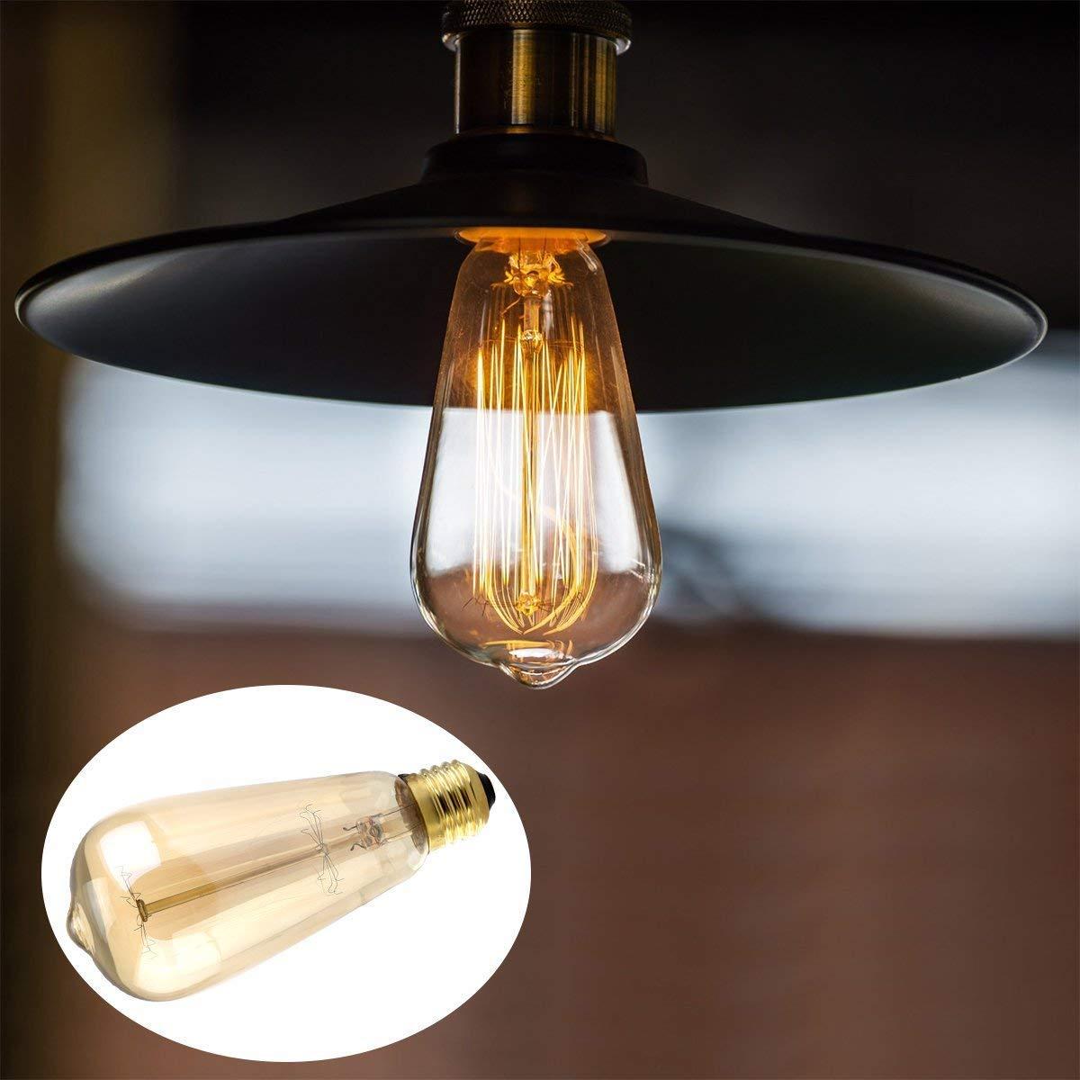 Edison Ampoule Edison Vintage Ampoule E27 40W D/écorative Ampoule Incandescence R/étro Edison Ampoule Antique Lampe Id/éale pour Salon Caf/é Lustres Pafonds Murs 3 Pack