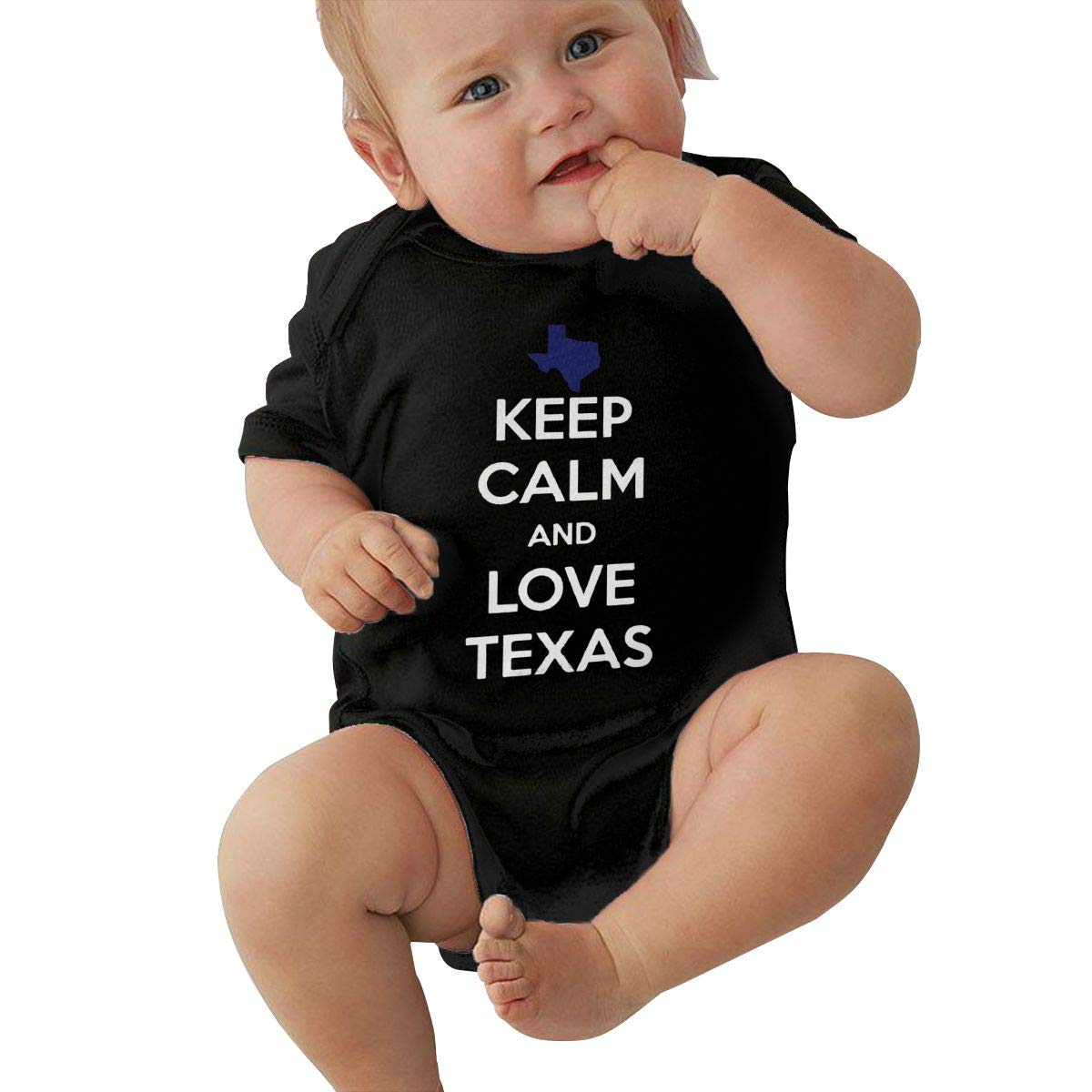 Keep Calm and Love Texas Infant Baby Girl Boy Romper Jumpsuit Short Sleeve Bodysuit Tops Clothes