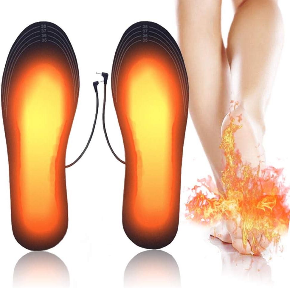 PINPOXE Climatizada Plantillas, Suelas calentables, Calentadores de Pies, para Zapatos Varios tamaños para Las Mujeres Hombres Invierno Caza Pesca Camping,Tamaño:40-44 se Puede Cortar y Lavable.