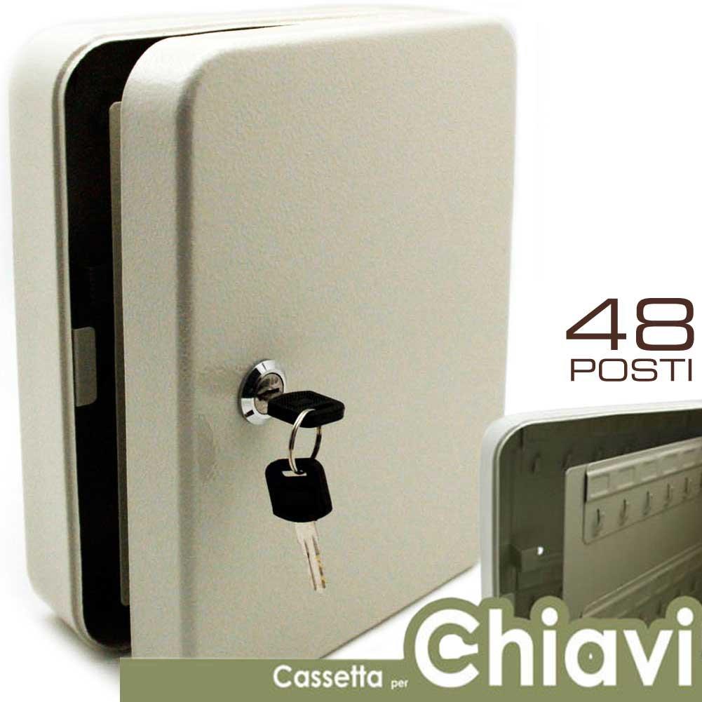 BAKAJI Caja Llavero de Pared 48 Plazas Caja Seguridad Llaves ...
