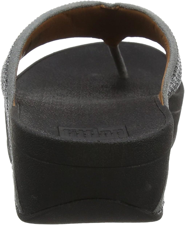Fitflop Ritzy Toe-Thong Sandals - Sandalias con Punta Abierta Mujer Peltre Gris
