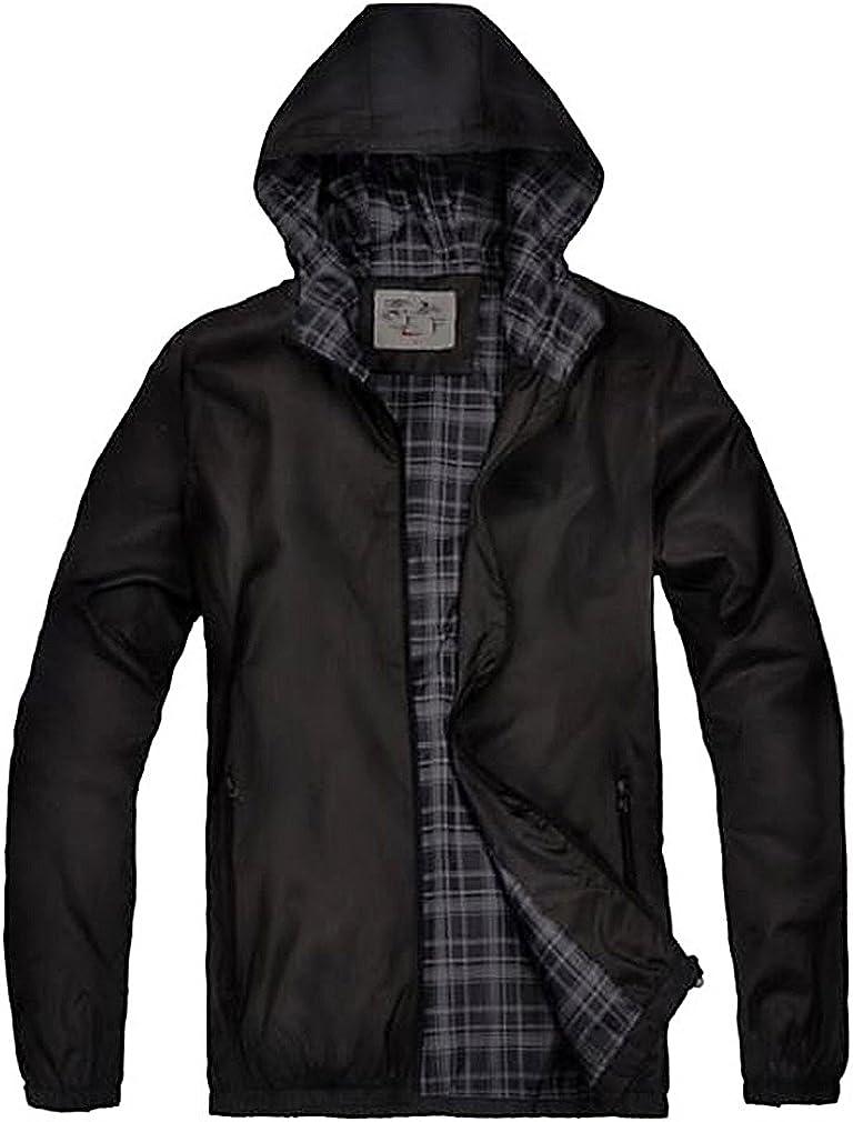 Abetteric Men Plus Size with Hood Outwear Coat Brumal Warm Coat Jacket