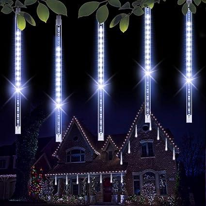 Amazoncom Minger Outdoor Lights 8 Tubes Waterproof Meteor Shower