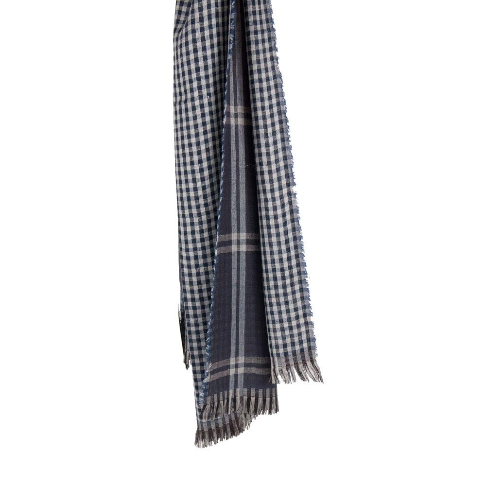 Pashmina blu uomo in viscosa leggera estiva sciarpa da ragazzo elegante  morbida grande primavera estate double-face foulard fular primaverile 2019  xl a ... a6450949c030