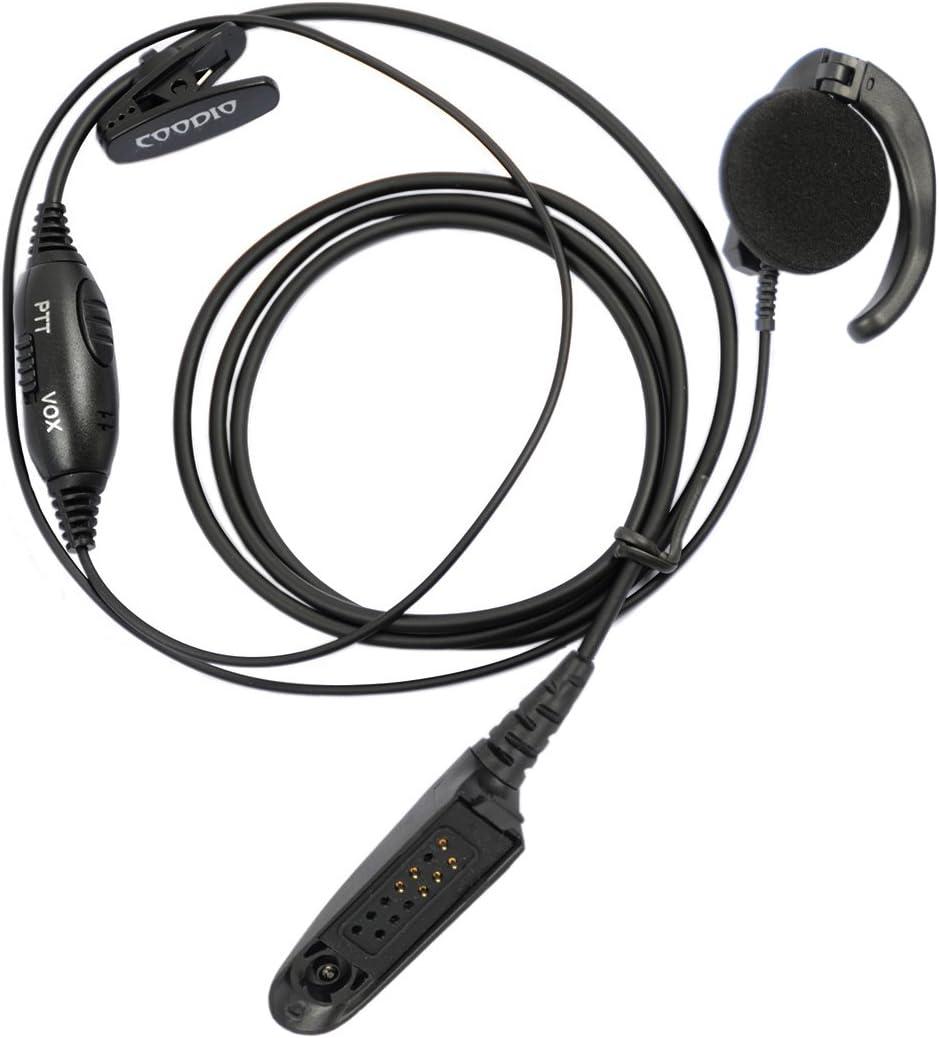 Earpiece Headset PTT VOX MIC for Motorola HT750 HT1250 GP328 GP329 GP340 GP380