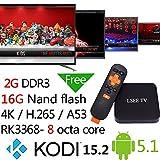 [ Set Top TV Box ] 2G/16G Octa Core Febite EKB368 Rockchips Rk3368 Octa Core KODI 15.2 Full Loaded Streaming Player 64bit 2.4+5g Ac Wifi Hdmi 2.0 4k 60fps Android 5.1 Tv Box