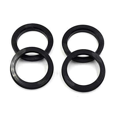 LU HWN 4X4 72.6 to 56.1 Black Plastic Hub Centric Rings - Pack of 4: Automotive