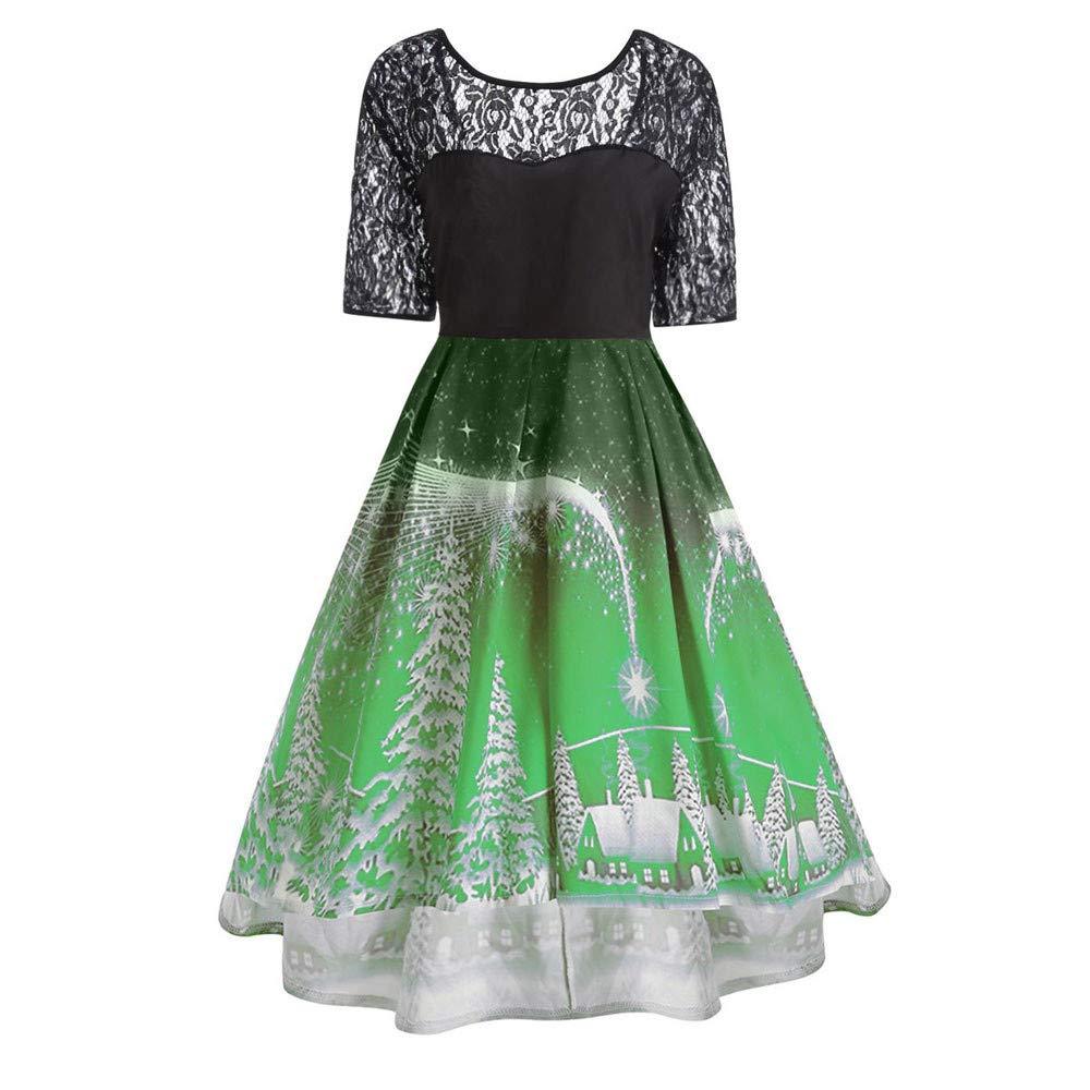 PLENTOP DRESS レディース B07HNLLCK3  グリーン Medium
