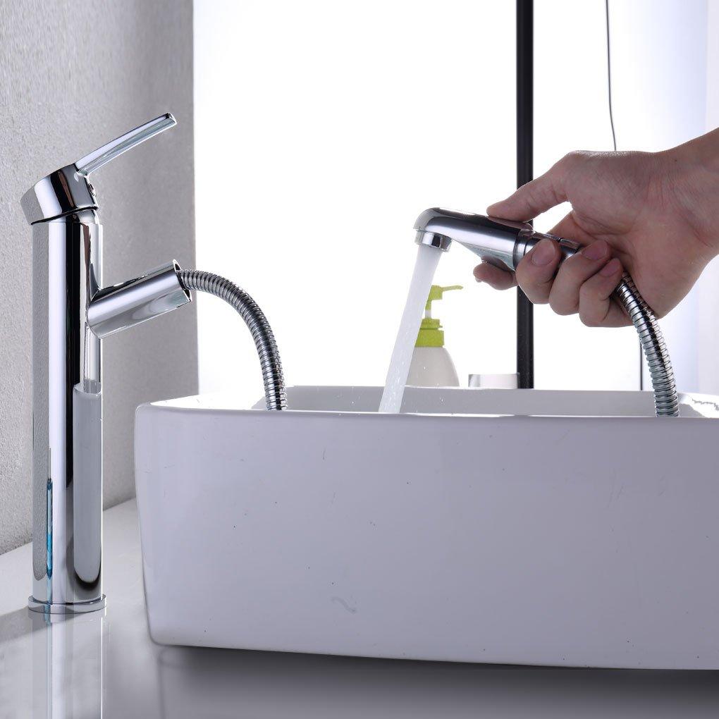 Charmingwater Armatur ausziehbar Brause hoher Wasserhahn Bad ...
