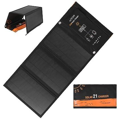 Festnight 21W Cargador Solar Plegable Impermeable Panel de ...