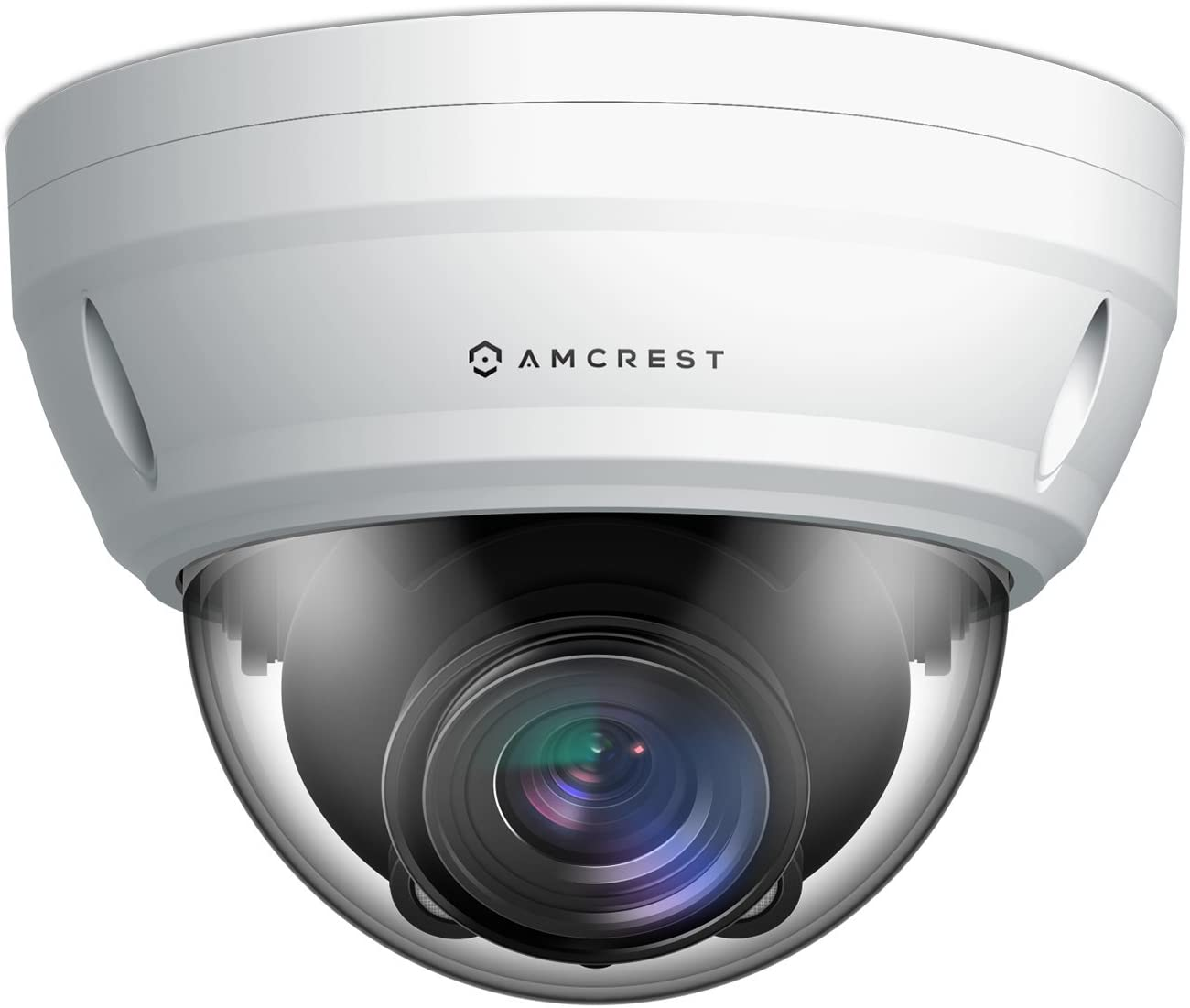 Amcrest ProHD 5X Optical Zoom Outdoor PoE IP Camera Dome, 1080P 1920TVL 2MP, 164ft Night Vision, Motorized Varifocal Lens 2.7-13.5mm, White IP2M-856EW