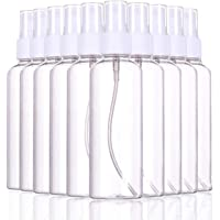 10 Pieces TERSELY 100ML Spray Bottles Portable Refillable Clear Reusable Fine Mist Sprayer Bottles Travel Bottle Pipette Atomiser Liquid Container