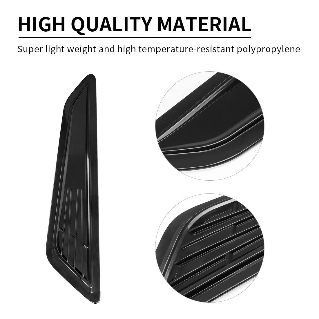 SUPAREE Air Intake Decorative Trim Panel Hood Scoop Bonnet Vent Decor Covers for 2016-2018 Chevy Camaro 1LT// LS//RS-2Pcs