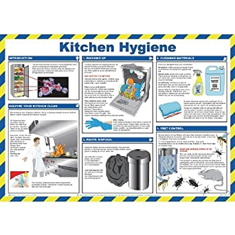 Kitchen Hygiene For Caterers Poster 420X590mm Health And Safety Work ...