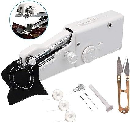 Mini Mano Eléctrica Maquina de Coser Portatil Para Casa Set de agujas ropa DIY