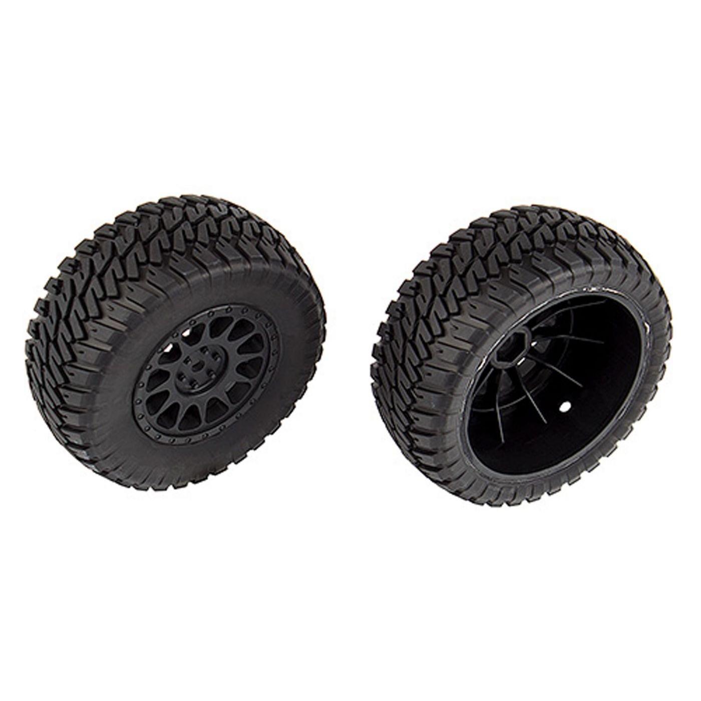 Team Associated Multi-terrain Tires and Method Wheels mounted