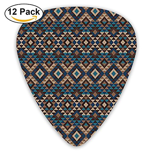 Newfood Ss Ethnic Knitted Jacquard View Fabric Geometric Guitar Picks 12/Pack Set