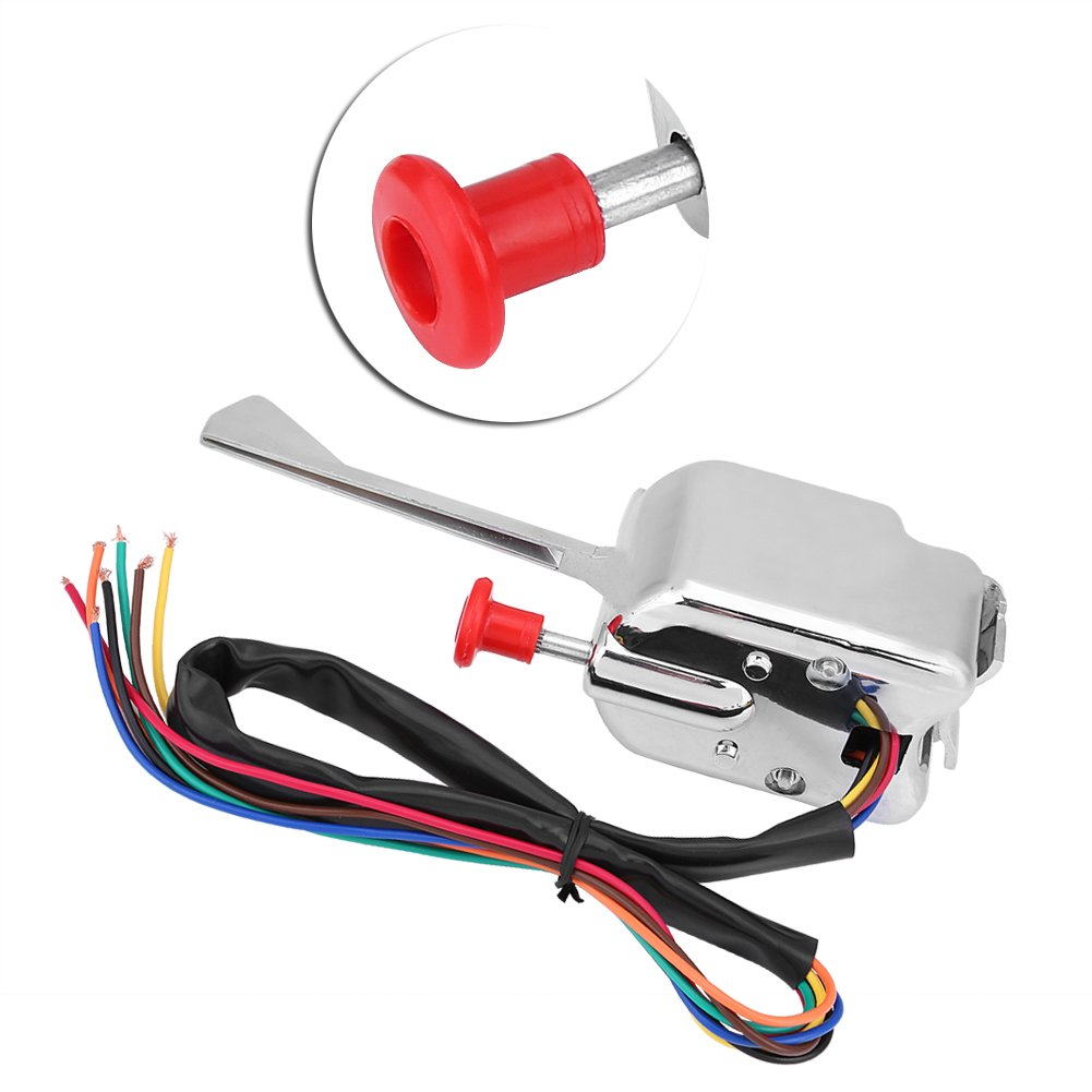 12V universal Interruptor intermitente de se/ñal de giro de la varilla de emergencia de Chrome Street con 2 Pin LED Turn Blinker Light Flasher Relay