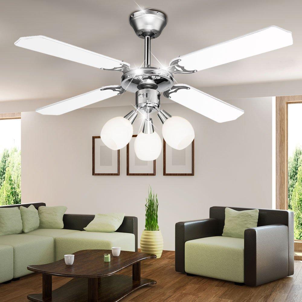 Eleganter Decken Ventilator Wohnraum Kühlung Lampe Lüfter