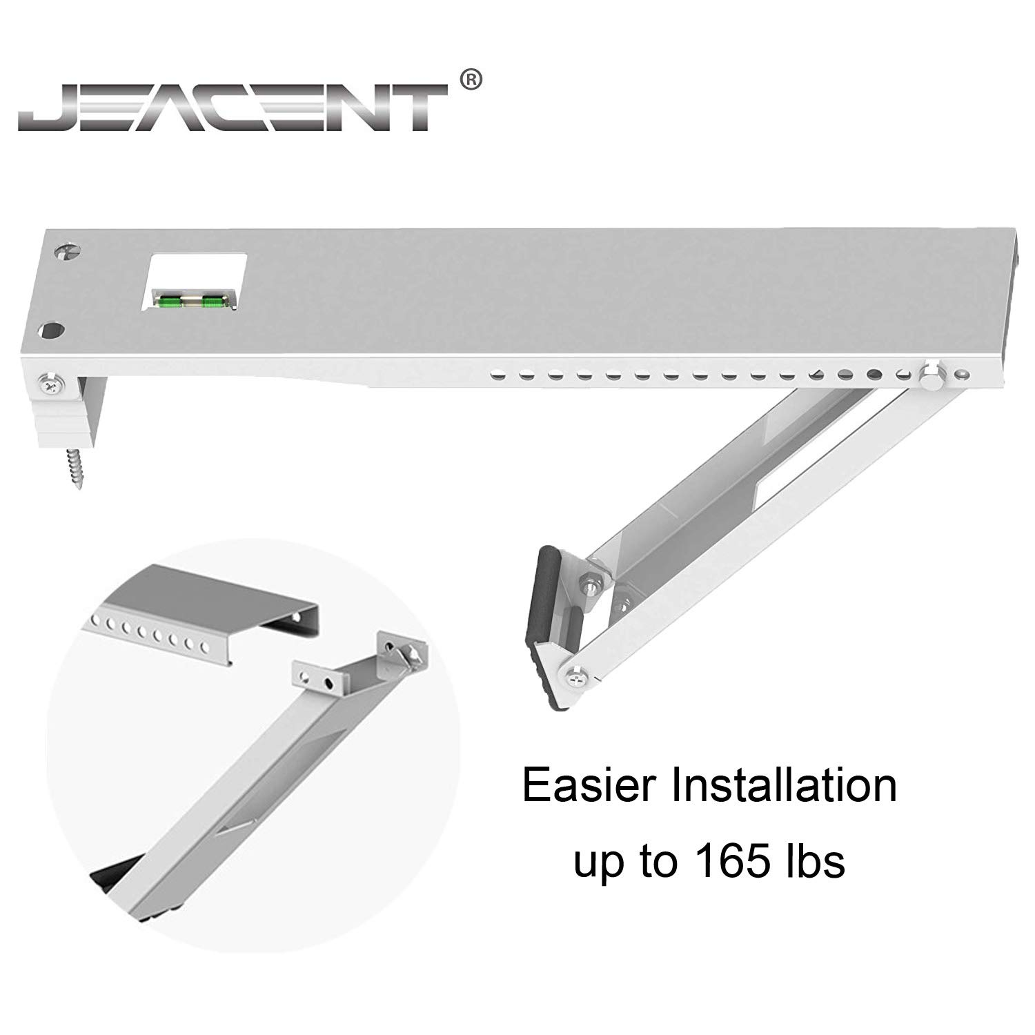Window Air Conditioner Brackets, Universal AC Window Support Bracket - Heavy Duty, Holds Up to 165 lbs