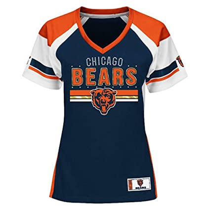 57fadd5c Majestic Chicago Bears Women's NFL Draft Me Jersey Top Shirt - Navy