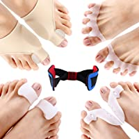 ESARORA Bunion Corrector & Bunion Relief Protector Sleeves Kit, Treat Pain In Hallux Valgus - Tailors Bunion - Big Toe Joint - Hammer Toe - Toe Separators Spacers Straighteners Splint Aid Surgery Treatment