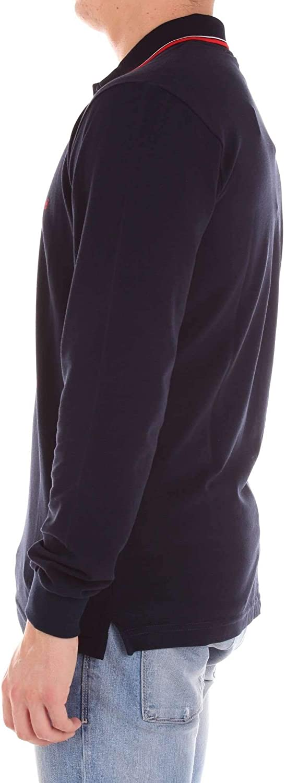 VINCENZO BUCCI Luxury Fashion Mens Polo Shirt Spring Blue