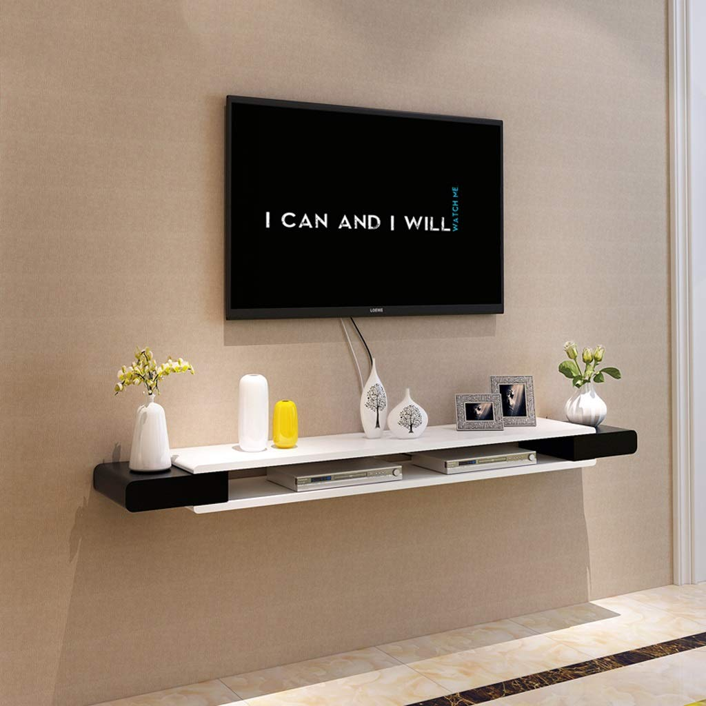 Floating Shelf Modern Wall Mounted Floating TV Shelf TV Console Home Media Entertainment Storage Shelf TV Stand TV Cabinet Sky Box Set Top Box Game Console Multifunctional Display Stand by SjYsXm-Floating shelf