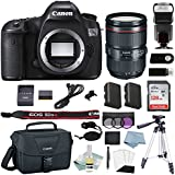 Canon EOS 5DSR DSLR Camera Kit With 24-105 L IS Lens + Canon CarePak PLUS 13 Month Damage Protection + Professional Accessory Bundle - Including EVERYTHING You Need To Go Pro