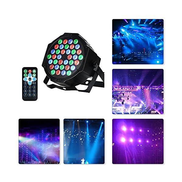 6113NYtOKUL. SS600 - LED PAR,36W 36LEDs RGB 7 Beleuchtung Modi Disco Lichteffekte dj party Licht Bühnenbeleuchtung led scheinwerfer Fernbedienung DMX Steuerung Discolicht für DJ KTV Disco Party