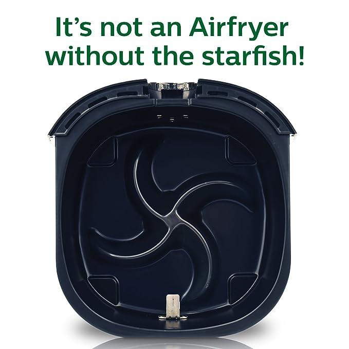 Philips Starfish Technology Airfryer, Black - 1.8lb/2.75qt- HD9220/26