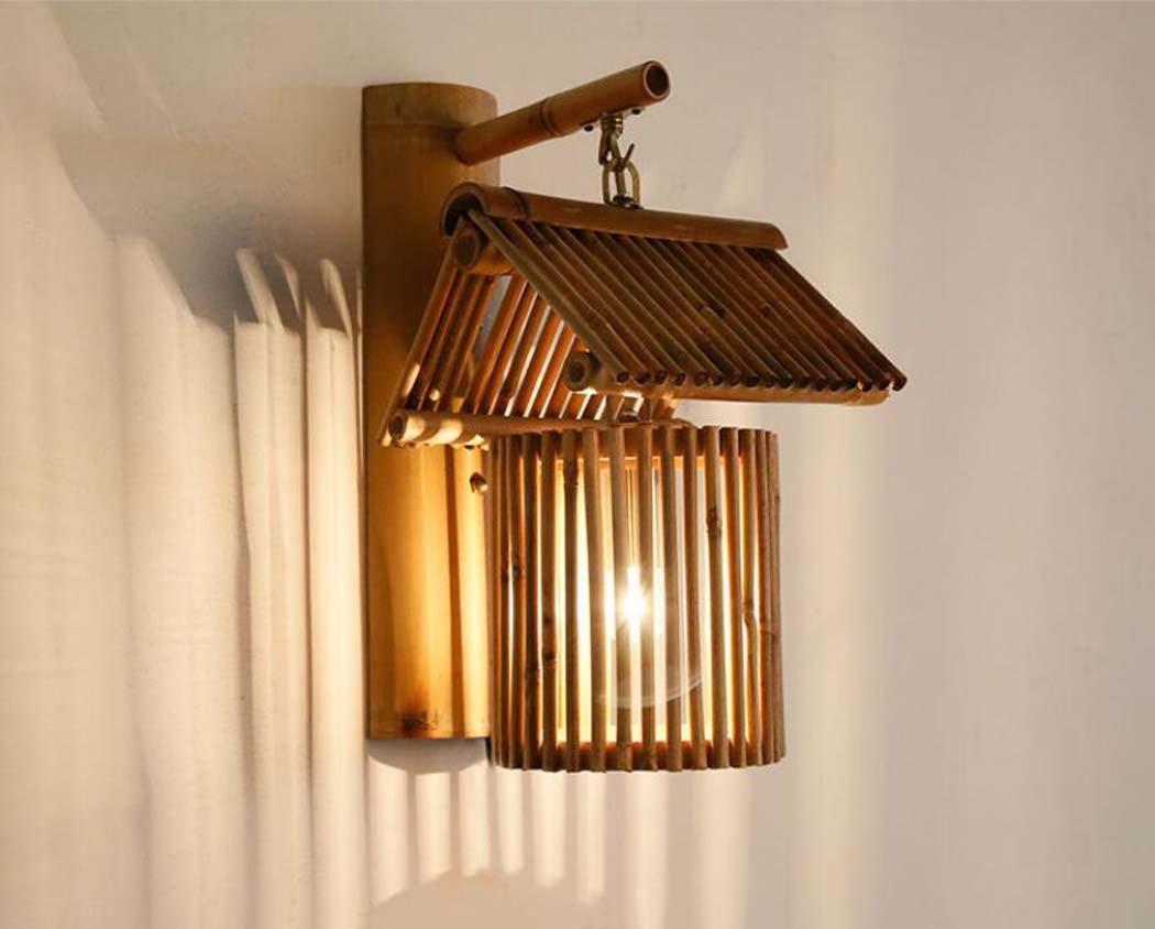 アンティークウォールランプ、東南アジア手作りの竹製の壁ランプ、創造的な人格のカフェファームハウス装飾的な壁ライトE27(光源なし) (色 : A) B07DGB3FWW 13762  A