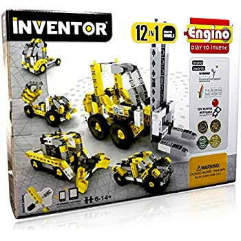 Engino ENG-1234 Inventor - Build 12 Construction Vehicles, NO BATTERIES REQUIRED