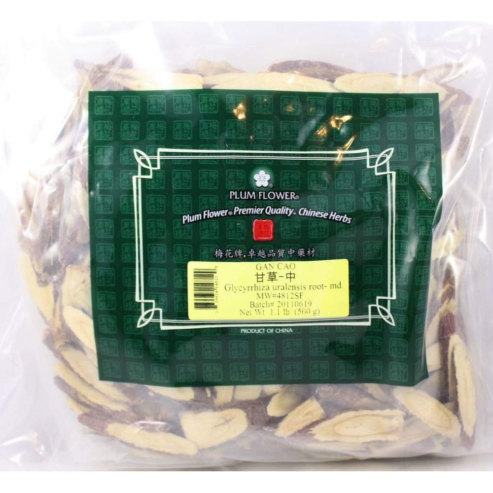 Licorice Root, medium slices / Gan Cao / Glycyrrhiza Uralensis - Bulk Herb 1.1lb / 500g