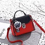 Summer Mini Bag, Ladies Hand Bag, Single Shoulder Skew Spanning Bag,Red/A,21X20X16Cm