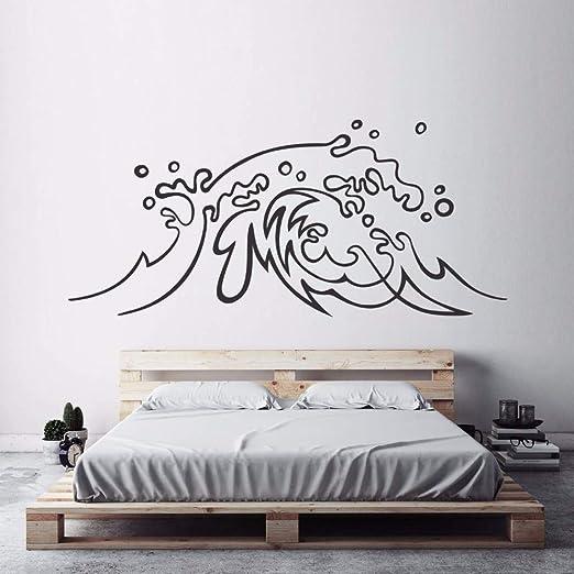 mmzki Diseño náutico Etiqueta de la Pared Ocean Wave Vinilo ...