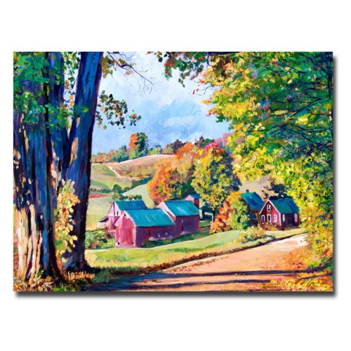 Road To Jenne Farm, Vermont by David Lloyd Glover, 24x32-Inch Canvas Wall Art