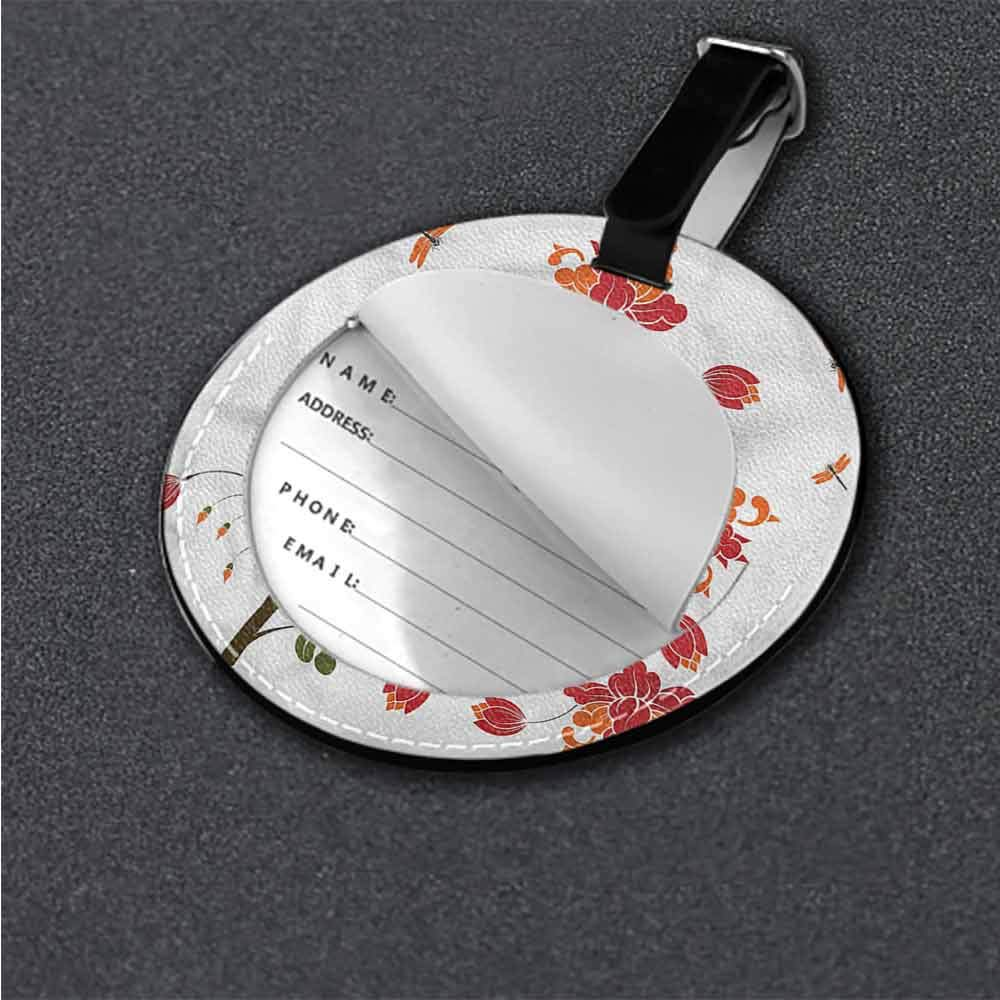Creative Luggage Tag Dragonfly,Floating Soft Water Lily Animal Cartoon