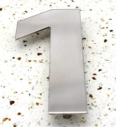 ZW Hardware SS100 12 Inch 304 Stainless Steel Brushed Stainless Steel Large House Number 3