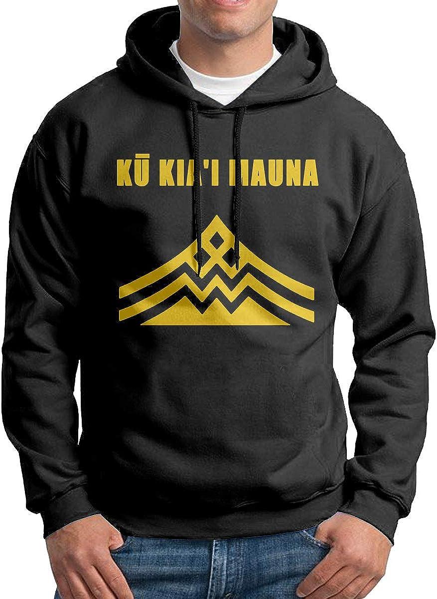 Ku Kiai Mauna Mens Hoodies Long Sleeve Pullover Casual Sweatshirt Hooded Sweater