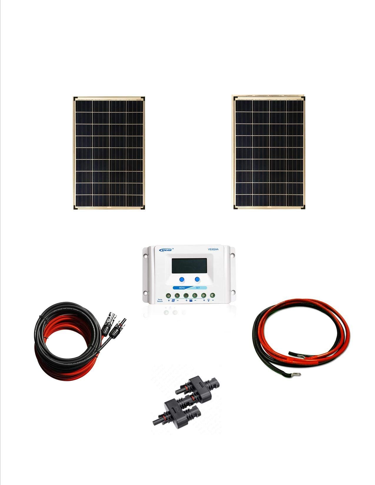 Best Rated In Solar Panels Helpful Customer Reviews Wiring Panel Cable Series Kit Panneau Solaire Polycrystalline 2 100 W Watt 200w Mc4 Y