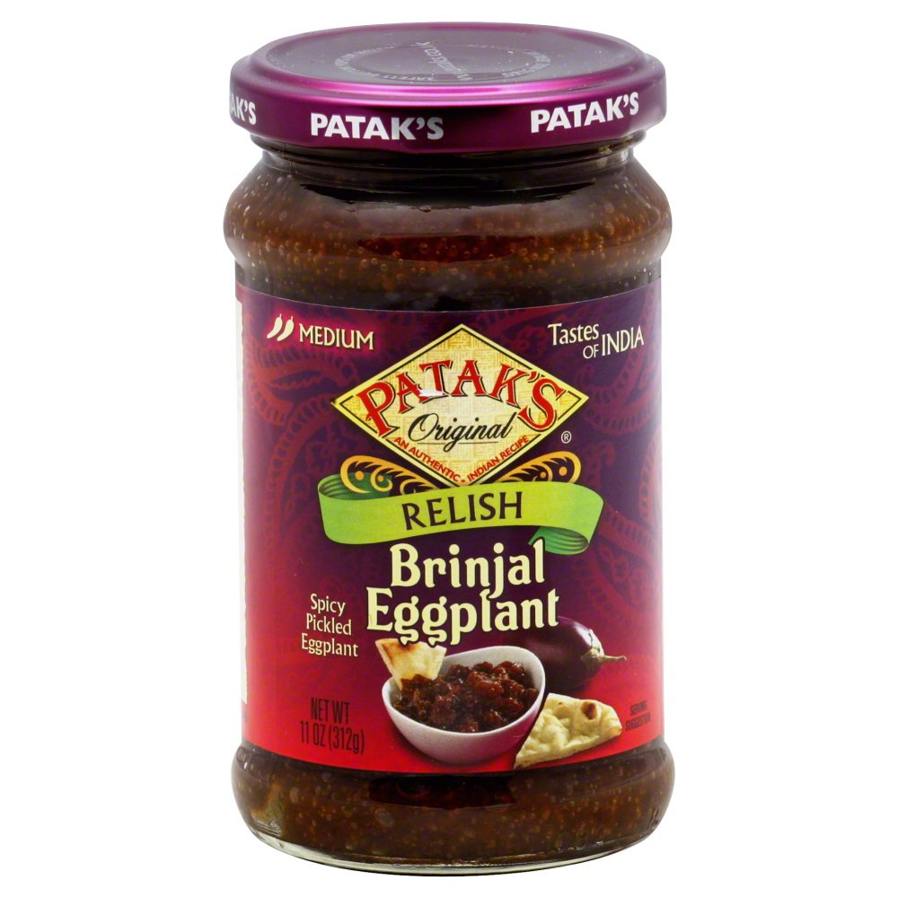 Patak's Brinjal (Egg Plant) Relish 11-ounce Jars (Pack of 6)