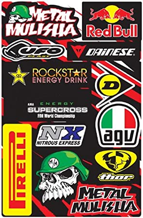 6 sheets of motocross decal stickers #AZN RC models mx bmx bikes scooters mopeds great gift