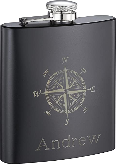 Personalized Visol Compass Flask With Free Engraving Flasks