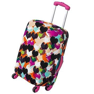 ZhongYeYuanDianZiKeJi Funda para maletas de viaje Cubierta Funda para maletas elásticas de protección (Corazón, S): Amazon.es: Equipaje
